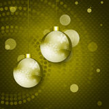 Christmas card. With Christmas balls on abstract background Stock Photography