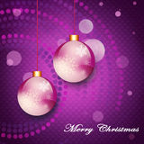 Christmas card. With Christmas balls on abstract background Royalty Free Stock Images