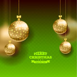 Christmas card with balls background Royalty Free Stock Images