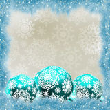 Christmas card with balls. EPS 8. Vector file included Stock Photos
