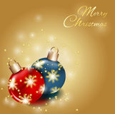 Christmas card. Christmas balls, christmas card, holiday theme Royalty Free Stock Images