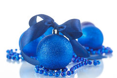 Christmas card with balls Royalty Free Stock Image