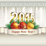 Christmas card 2015 Stock Photography