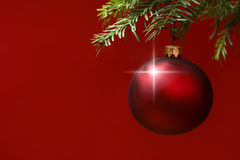 Christmas card bauble ornaments Royalty Free Stock Photo