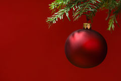 Christmas card bauble ornaments Stock Photography