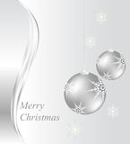 Christmas card with baubles Stock Photography