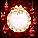 Christmas card with baubles Royalty Free Stock Photography