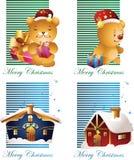 Christmas card with bear Stock Image