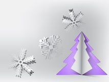 Christmas card. Beautiful Christmas card in purple and grey colors Stock Images