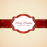 Christmas card on beige background Royalty Free Stock Photo