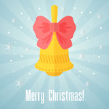 Christmas card with bell Royalty Free Stock Photo