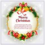 Christmas Card Bell Stock Photos