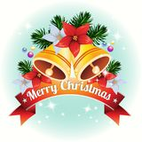 Christmas card with bell decoration vector. Christmas card with bell decoration stock illustration
