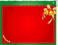 Christmas card with bells. Vector illustration of Christmas card with bells on the green background Royalty Free Stock Images