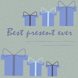 Christmas card for best present Royalty Free Stock Photography