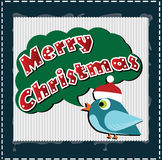 Christmas card with a bird Stock Photo