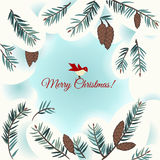 Christmas card with bird Royalty Free Stock Photo