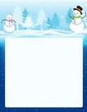 Christmas card with blank area Stock Photography