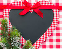 Christmas card blank in heart shape Royalty Free Stock Photo