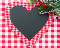 Christmas card blank in heart shape Royalty Free Stock Image