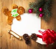 Christmas card: blank Royalty Free Stock Photography