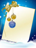 Christmas card blue Royalty Free Stock Photography