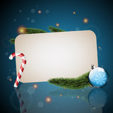 Christmas card with blue background Royalty Free Stock Image
