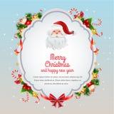 Christmas Card Blue Stock Photo