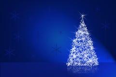 Christmas card. The blue glossy Christmas card Stock Photography
