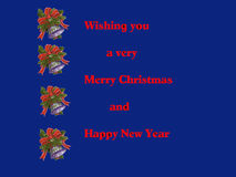 Christmas  Card in Blue Illustration Stock Photography