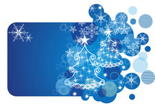 Christmas card. blue vector illustration Stock Image