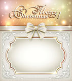 Christmas card 2015. 2015 Christmas card on a bright background stock illustration
