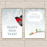 Christmas Card With Bullfinch Royalty Free Stock Photography
