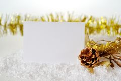 Christmas card with a bump Royalty Free Stock Photo