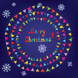 Christmas card with bunting flags Stock Image