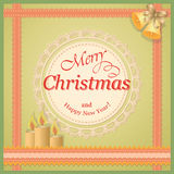Christmas card with candles Stock Photography