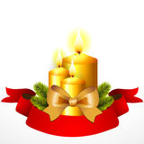 Christmas card with candles Royalty Free Stock Photography