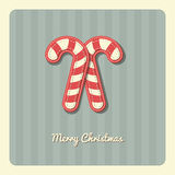 Christmas Card - Candy Cane Royalty Free Stock Image