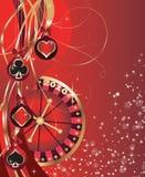Christmas card for a casino.  vector. Stock Photography