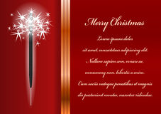 Christmas card. Celebration background with sparkler and place for your text Royalty Free Stock Photography