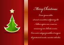 Christmas card. Celebration background with tree and place for your text Royalty Free Stock Photos