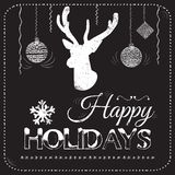 Christmas card on the chalkboard vector Royalty Free Stock Image