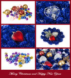 Christmas card with  Christmas ball Royalty Free Stock Images