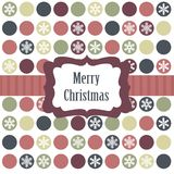 Christmas card with christmas balls. Illustration Royalty Free Stock Images