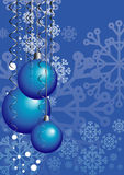 Christmas card with Christmas balls Stock Photo