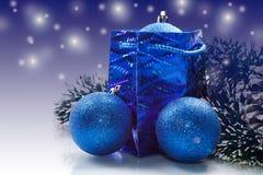 Christmas card with Christmas balls Stock Images