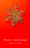 Christmas card with Christmas decoration. Vintage Christmas card with Christmas decoration Royalty Free Stock Images