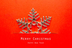 Christmas card with Christmas decoration. Royalty Free Stock Photos