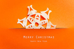 Christmas card with Christmas decoration. Royalty Free Stock Image