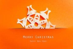 Christmas card with Christmas decoration. Vintage Christmas card with Christmas decoration Royalty Free Stock Image